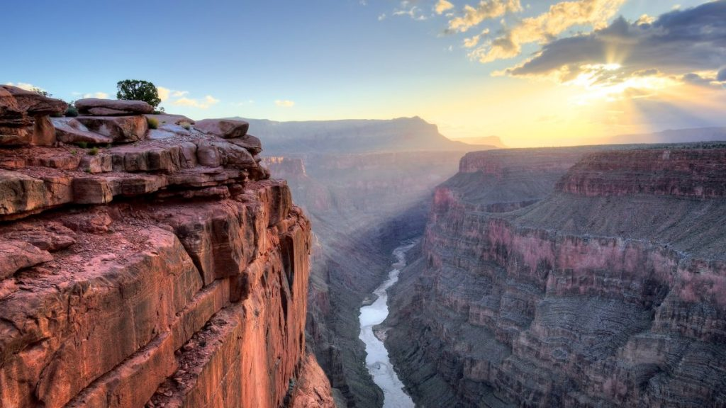 grand canyon, top view