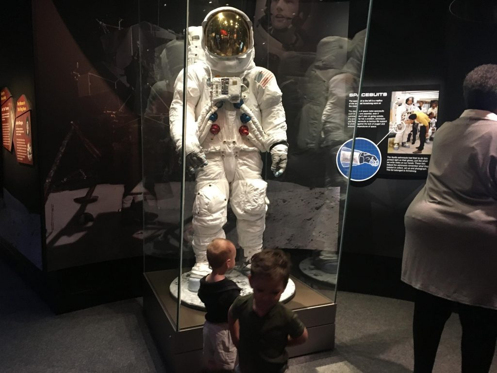 The Cincinnati Museum Center hopes kids will become inspired to study space by visiting the Neil Armstrong exhibit.