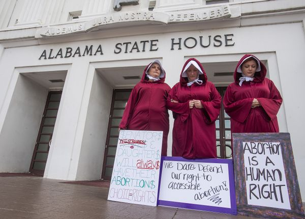 Pro-choice supporters protest in Alabama