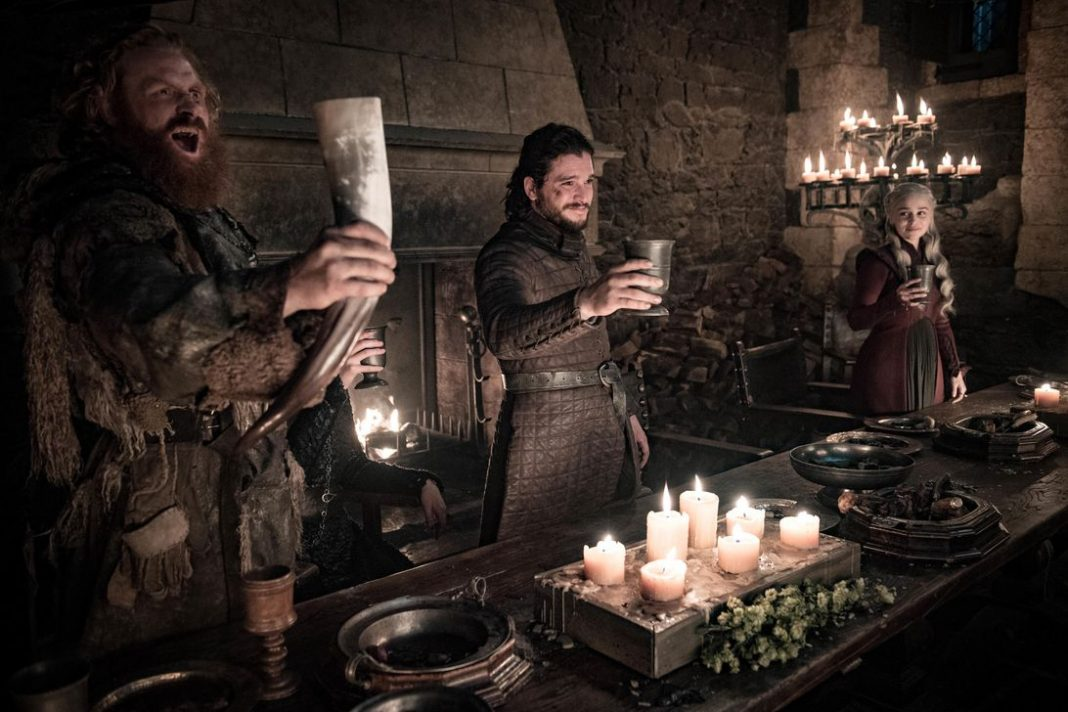 The famous starbucks cup on Sunday's game of thrones episode