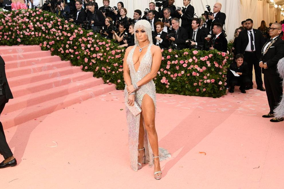 Jennifer Lopez in Versace at the MET GALA 2019