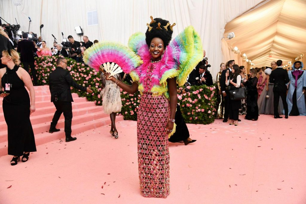 Lupita Nyong'o in Versace gown at the MET Gala 2019