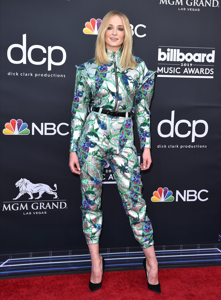 Sophie Turner attends the 2019 Billboard Music Awards at MGM Grand Garden Arena on May 01, 2019 in Las Vegas, Nevada