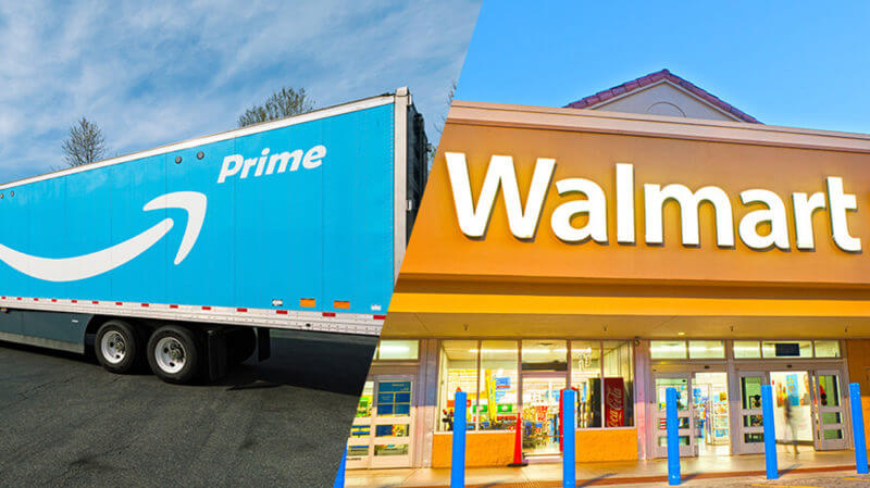 walmart competes with amazon to deliver on same day