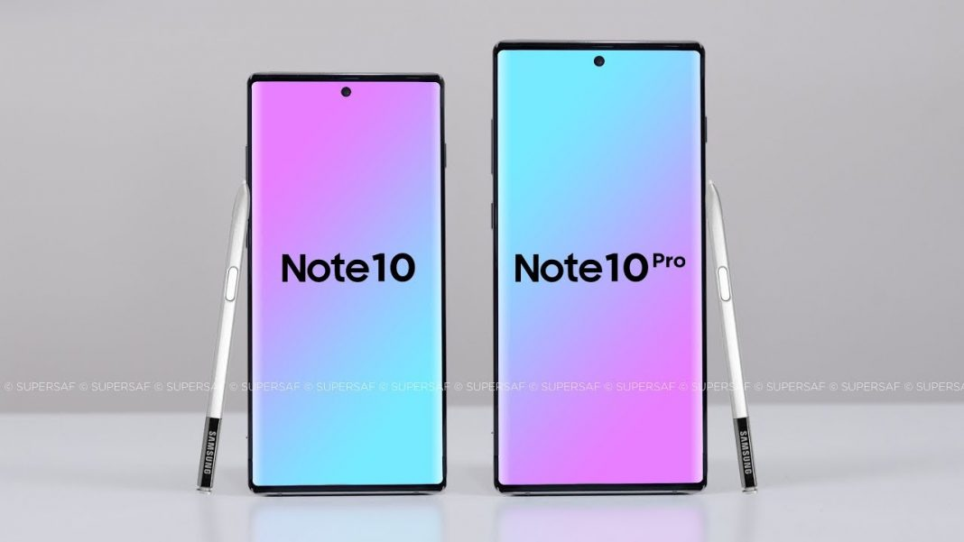 Galaxy Note 10 and Note 10 pro renders