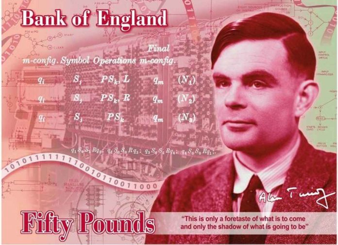 The Alan Turing £50 note contains a secret message