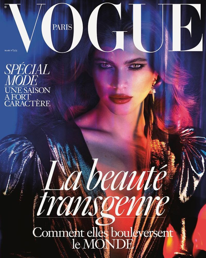 Valentina Sampaio covers Vogue Paris March 2017