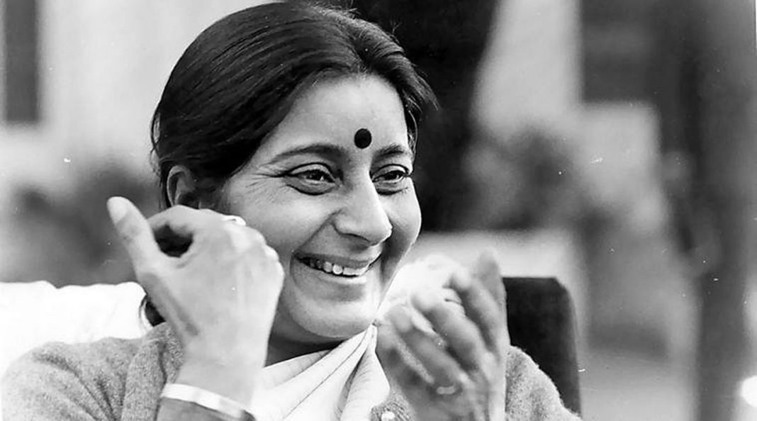 Sushma Swaraj former foreign minister of India dies at 67